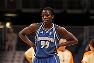 June 10, 2010; Phoenix, AZ, USA; Minnesota Lynx forward Hamchétou Maïga-Ba reacts against Phoenix Mercury during the first half at US Airways Center.  The Mercury defeated the Lynx 99-88.  Mandatory Credit: Jennifer Stewart-US PRESSWIRE