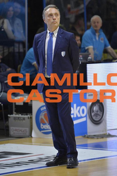 Cremona 04 Maggio 2016<br /> Serie A Lega Beko<br /> Vanoli Cremona Enel Brindisi<br /> Nella Foto Piero Bucchi Enel Brindisi<br /> Foto Ciamillo<br /> Provvisorio