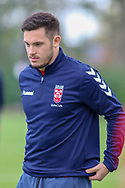Salford Red Devils' Niall Evalds during the England Knights training session at Leigh Sports Village, Leigh<br /> Picture by Steve McCormick/Focus Images Ltd 07545 862647<br /> 17/10/2018