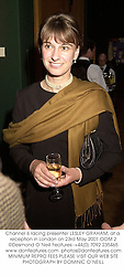 Channel 4 racing presenter LESLEY GRAHAM, at a reception in London on 23rd May 2001.	OOM 2