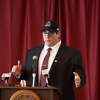 2016 UWL Press Conference Football Coach Steve Schmidt