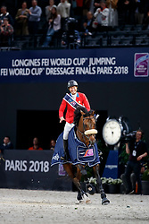 MADDEN Elizabeth (USA), Breitling LS<br /> Paris - FEI World Cup Finals 2018<br /> Longines FEI World Cup Jumping Final IV<br /> www.sportfotos-lafrentz.de/Stefan Lafrentz<br /> 15. April 2018