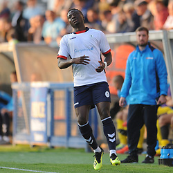 TELFORD COPYRIGHT MIKE SHERIDAN 14/8/2018 - Daniel Udoh during the Vanarama Conference North fixture between AFC Telford United and Brackley Town.