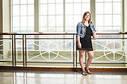 Ashley Doria location portraits in Baker Center created for Women's and Gender Studies on April 17, 2015.  Photo by Ohio University  /  Rob Hardin