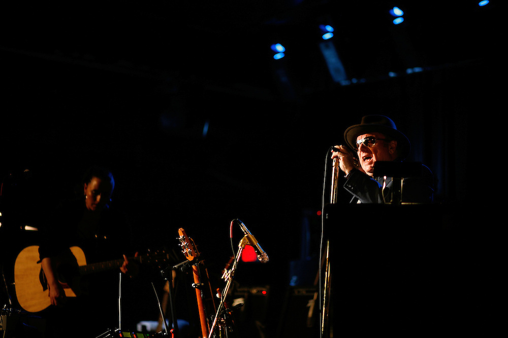 Van Morrison performs at La Zona Rosa during the 2008 SXSW music festival in Austin, TX.