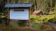 Historic Gold Point Mill along the Red River near Elk City, Idaho