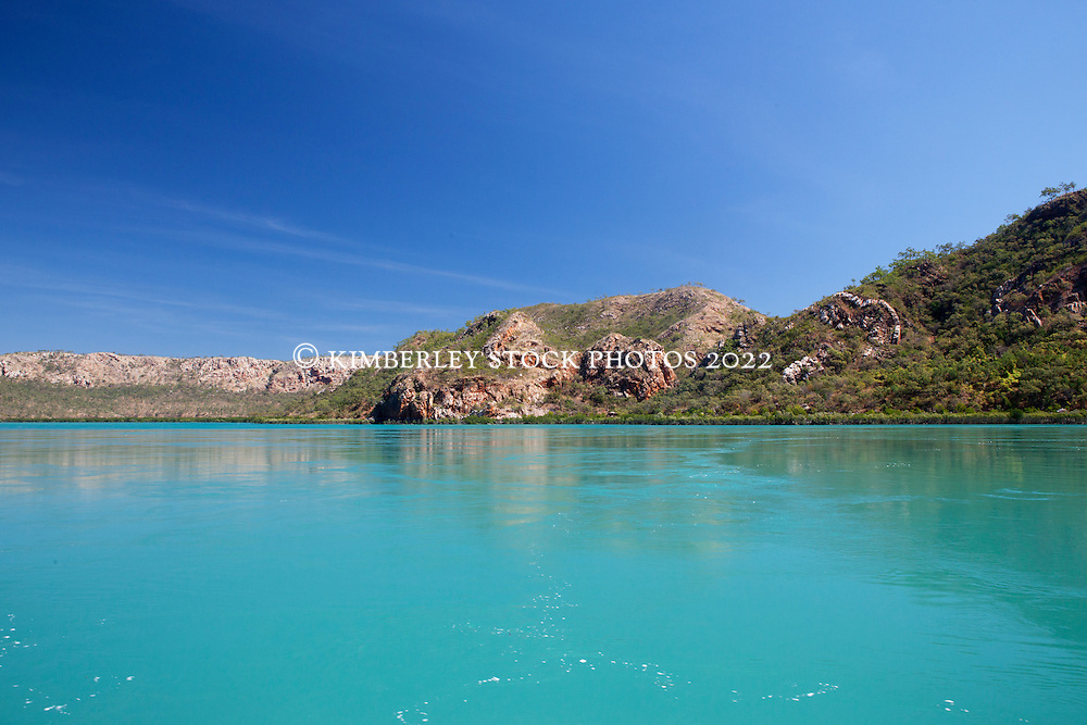 Still water at Dugong Bay in the Buccaneer Archipelgao on the Kimberley coast.