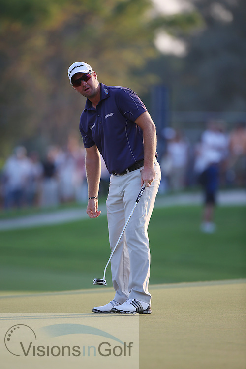 Peter Hanson<br /> at the DP World Tour Championship, Jumeirah Golf Estates Earth, Dubai UAE 2012<br /> Picture Credit:  Mark Newcombe / www.visionsingolf.com