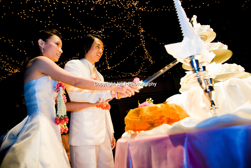 Wedding Reception at Elephant Tower in Bangkok, Thailand.