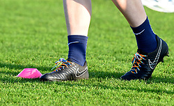 Sophie Baggaley's boots sporting rainbow laces - Mandatory by-line: Paul Knight/JMP - 17/11/2018 - FOOTBALL - Stoke Gifford Stadium - Bristol, England - Bristol City Women v Liverpool Women - FA Women's Super League 1