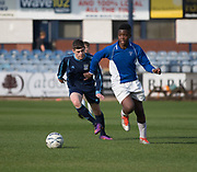 - St Johns (blue and white) v Monifieth (dark blue),  Urquart Trophy final, Dens Park, Dundee, Photo: David Young<br /> <br />  - &copy; David Young - www.davidyoungphoto.co.uk - email: davidyoungphoto@gmail.com