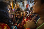 Jan. 24, 2016 - Kuala Lumpur, Batu Caves, Malaysia - <br /> <br /> Thaipusam Festival in Kuala Lumpur<br /> <br /> Hindus devotees heading to the Hindu shrine inside the Cave as they are carrying pots of milk as an offering to the gods. To mark this day, Hindus devotees pierce different part of their body with various metal skewers and carry pots of milk on their heads along couple of kilometers to celebrate the honor of Lord Subramaniam (Lord Murugan) in the Batu Caves, one of the most popular shrine outside India and the focal point to celebrate the Thaipusam Festival in Malaysia..Thaipusam is an annual Hindu festival, observed on the day of the full moon during the Tamil month of Thai, it is also a public holiday for many people.<br /> &copy;Exclusivepix Media