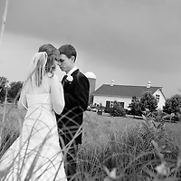 Chris and Laura take a moment before their wedding at the Byron Colby Barn - Chicago Wedding Photography
