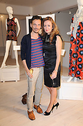 LUCY YEOMANS and MATTHEW WILLIAMSON at a dinner hosted by Harper's Bazaar to celebrate Browns 40th Anniversary in aid of Women International held at The Regent Penthouses & Lofts, 16-18 Marshall Street, London on 20th May 2010.