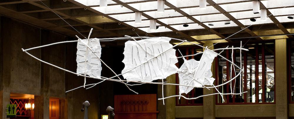 Truman Lowe art pieces in Gates Court
