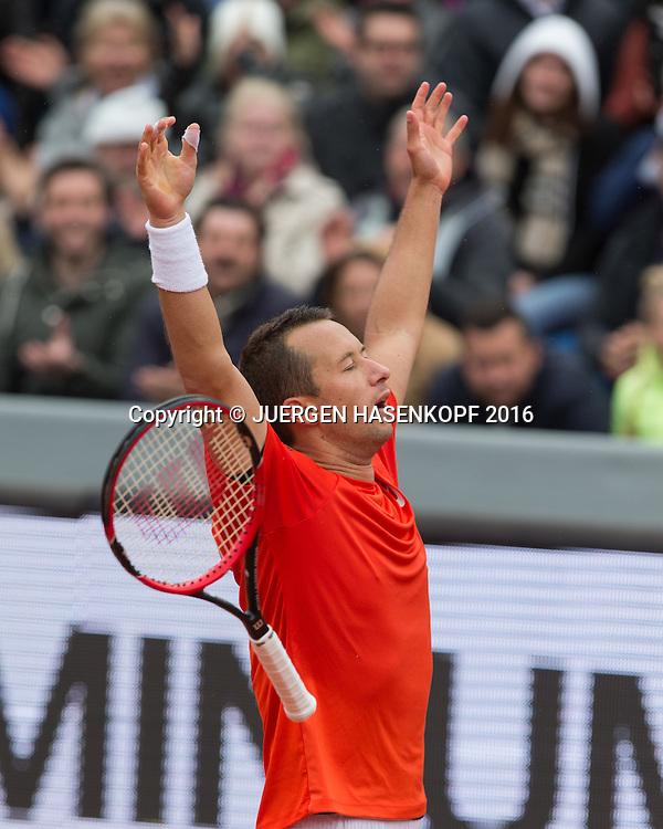 Philipp Kohlschreiber (GER), Endspiel, Final<br /> <br /> Tennis - BMW Open2016 -  ATP  -  MTTC Iphitos - Munich - Bavaria - Germany  - 1 May 2016.