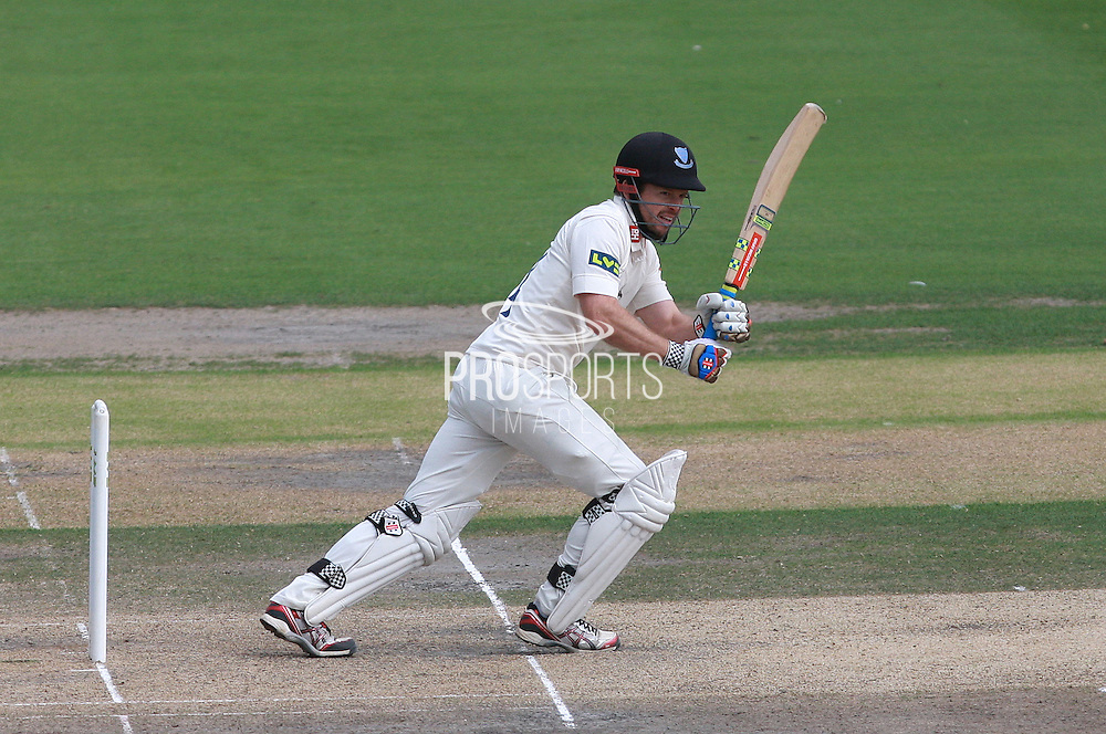 Ed Joyce on the front foot during his innings of 83 in the LV County Championship Div 1 match between Sussex County Cricket Club and Somerset County Cricket Club at the BrightonandHoveJobs.com County Ground, Hove, United Kingdom on 14 September 2015. Photo by Bennett Dean.