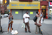 July 24, 2012-New York, NY:  Harlem Residents bid farewell at the official Slyvia Woods Harlem Community memorial and send off through the streets of Harlem. Sylvia Woods was an American restaurateur who co-founded the landmark restaurant Sylvia's in Harlem on Lenox Avenue, New York City with her husband, Herbert Woods, in 1962. (Photo by Terrence Jennings)