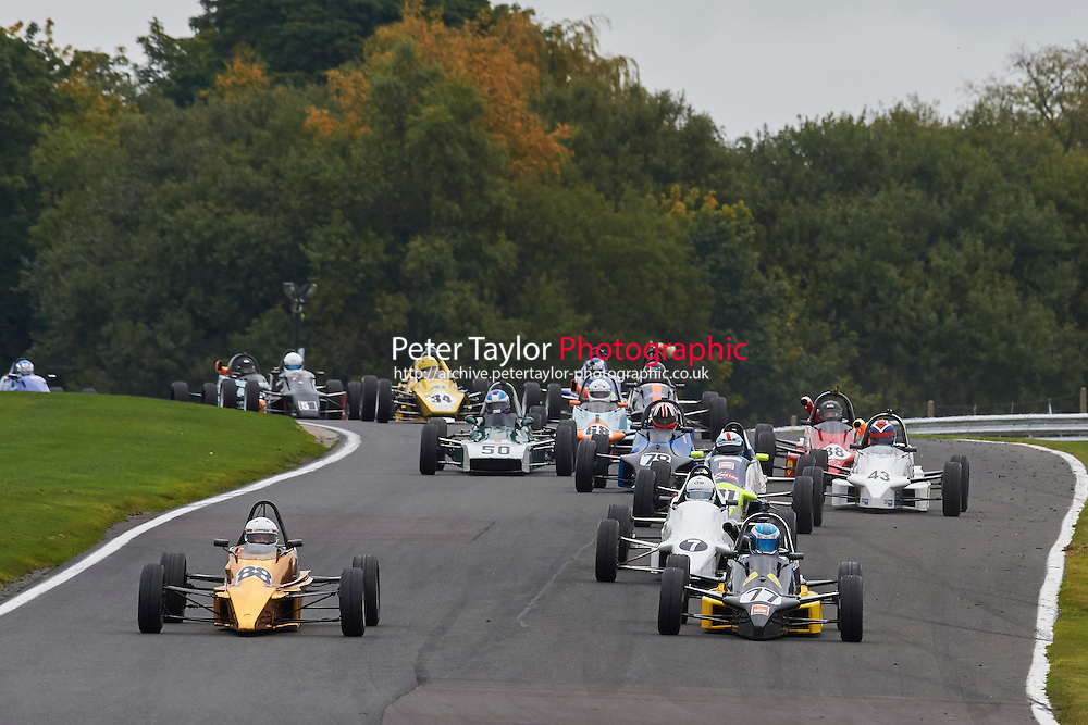 #77 Matthew Cowley Reynard FF88 during Avon Tyres Formula Ford 1600 Northern Championship - Pre 90 Race 1 as part of the BRSCC Fun Cup Oulton Park 17th October 2015 at Oulton Park, Little Budworth, Cheshire, United Kingdom. October 17 2015. World Copyright Taylor/PSP. Copy of publication required for printed pictures.  Every used picture is fee-liable. http://archive.petertaylor-photographic.co.uk