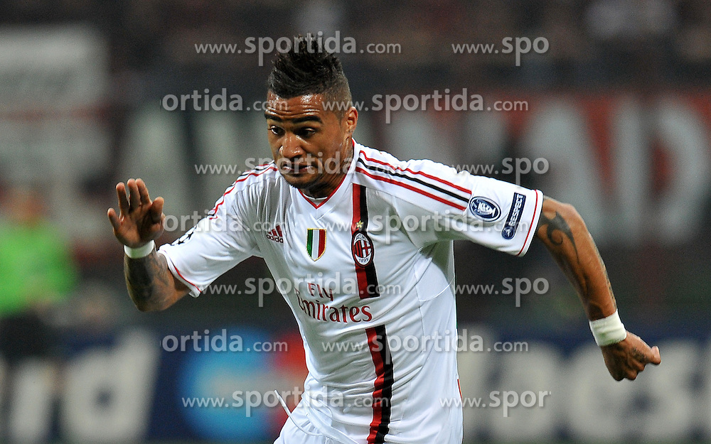 28.03.2012, Stadion Giuseppe Meazza, Mailand, ITA, UEFA CL, Viertelfinal-Hinspiel, AC Mailand (ITA) vs FC Barcelona (ESP), im Bild Kevin Prince BOATENG (Milan) // during the UEFA Champions League Quarter-final first leg Match between AC Mailand (ITA) and FC Barcelona (ESP) at Giuseppe Meazza Stadium, Milan, Italy on 2012/03/28. EXPA Pictures © 2012, PhotoCredit: EXPA/ Insidefoto/ Alessandro Sabattini..***** ATTENTION - for AUT, SLO, CRO, SRB, SUI and SWE only *****