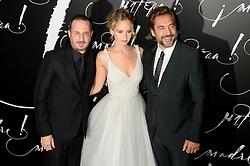 Darren Aronofsky, Jennifer Lawrence and Javier Bardem arriving for Mother! premiere held at Radio City Music Hall, New York City, NY, USA September 13, 2017. Photo by Dennis Van Tine/ABACAPRESS.COM