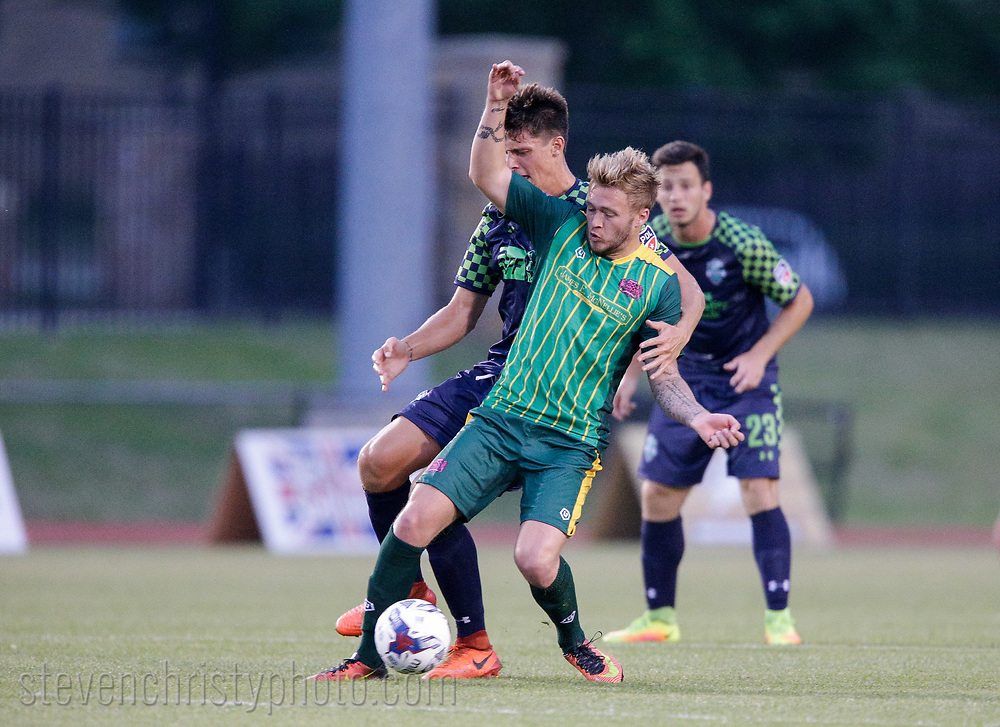 May 10, 2017: OKC Energy FC U23 plays Tulsa Athletic in a US Open Cup game at University of Tulsa Hurricane Soccer and Track Stadium in Tulsa, Oklahoma.