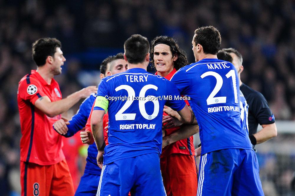 Altercation Edinson CAVANI / John TERRY - 11.03.2015 - Chelsea / Paris Saint Germain - 1/8Finale Champions League<br />Photo : Johnny Fidelin / Icon Sport