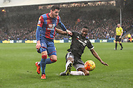 Joel Ward of Crystal Palace is fouled by Mikel John Obi of Chelsea during the Barclays Premier League match between Crystal Palace and Chelsea at Selhurst Park, London, England on 3 January 2016. Photo by Ken Sparks.