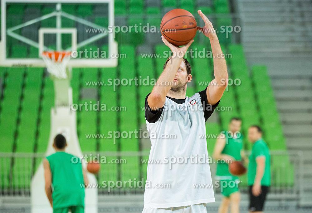 Sasa Zagorac  during practice session of KK Union Olimpija before new basketball season 2015/16, on September 29, 2015 in Arena Stozice, Ljubljana, Slovenia. Photo by Vid Ponikvar / Sportida