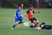 Monifieth Hurricanes (blue and white) v Sidlaw Athletic (orange and black) in the Dundee Saturday Morning Football League at University Grounds, Riverside, Dundee, <br /> <br />  - © David Young - www.davidyoungphoto.co.uk - email: davidyoungphoto@gmail.com