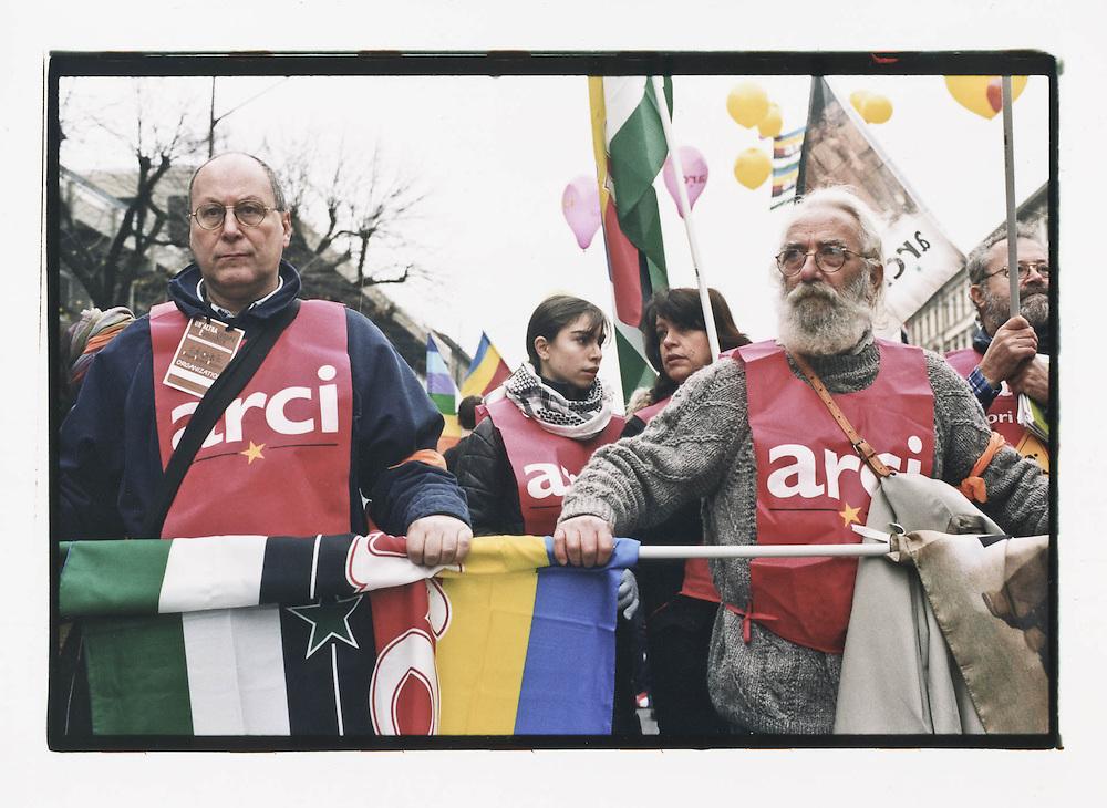 Firenze, European Social Forum, novembre 2002. Corteo conclusivo del 9 novembre 2002.
