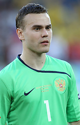 Goalkeeper of Russia Igor Akinfeev of Russia (1) before the UEFA EURO 2008 Group D soccer match between Sweden and Russia at Stadion Tivoli NEU, on June 18,2008, in Innsbruck, Austria. Russia won 2:0. (Photo by Vid Ponikvar / Sportal Images)