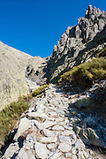 Stone path in Sierra de Gredos (Spain)