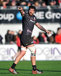 Jim Hamilton of Saracens issues instructions - Photo mandatory by-line: Patrick Khachfe/JMP - Mobile: 07966 386802 17/01/2015 - SPORT - RUGBY UNION - London - Allianz Park - Saracens v Munster - European Rugby Champions Cup