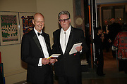 ALLEN JONES AND JOHN HOYLAND, Royal Academy Annual dinner. Royal Academy, Piccadilly. 6 June 2006. ONE TIME USE ONLY - DO NOT ARCHIVE  © Copyright Photograph by Dafydd Jones 66 Stockwell Park Rd. London SW9 0DA Tel 020 7733 0108 www.dafjones.com