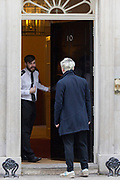 UNITED KINGDOM, London: 31 January 2019 <br /> Vice reporter Oobah Butler suspiciously walks away from 10 Downing Street this morning. The reporter/prankster who is famed for making a completely fictitious restaurant reach number one on TripAdvisor and who managed to blag himself into Paris Fashion Week, was up to something fishy outside the Prime Minister's residence.  <br /> Rick Findler / Story Picture Agency