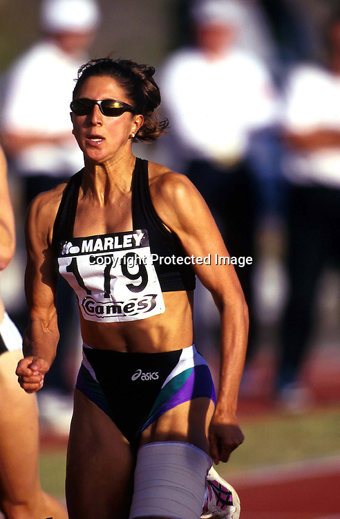 Chantal Brunner of New Zealand competing at the Marley Games in 1998. Photo: Andrew Cornaga/Photosport.co.nz