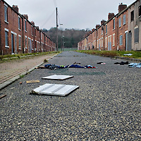 Easington,  County Durham. There's no whiter place in England and Wales than Easington in County Durham according to the BBC News today 6th March 2008 based on 20021 Census. The locals talk about abandonment and loss of a proud culture built on hard work