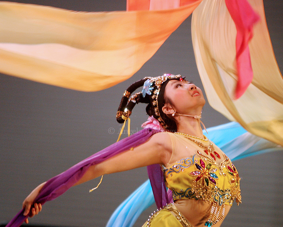 (123108  Boston, MA) Anita Li, 16, of Newton, performs a fairy dance with the Chu Ling Dance Academy at the Hynes Convention Center, Wednesday,  December 31, 2008.   Staff photo by Angela Rowlings.