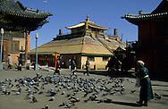 Mongolia. Ulaanbaatar. Gandan Buddhist Monastery  OulanBator       / Monastère Bouddhiste de Gandan à Oulan Bator.   OulanBator  Mongolie   / R84/56    L921006a  /  P0002792