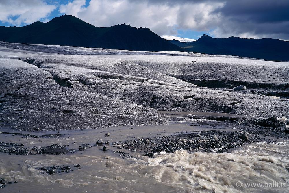 The glacier, Skaftafellsjokull, Iceland - Skaftafellsjökull