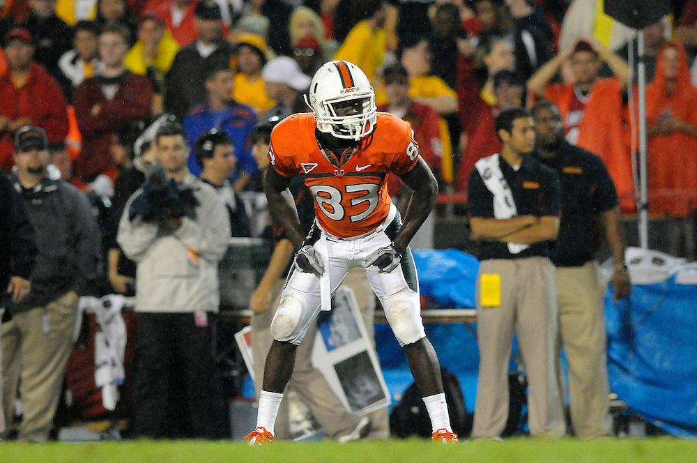 2011 Miami Hurricanes Football @ Maryland<br /> <br /> Kendal Thompkins