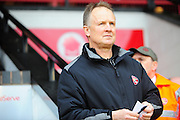 Sean O'Driscoll, manager of Walsall during the Sky Bet League 1 match between Walsall and Wigan Athletic at the Banks's Stadium, Walsall, England on 20 February 2016. Photo by Mike Sheridan.