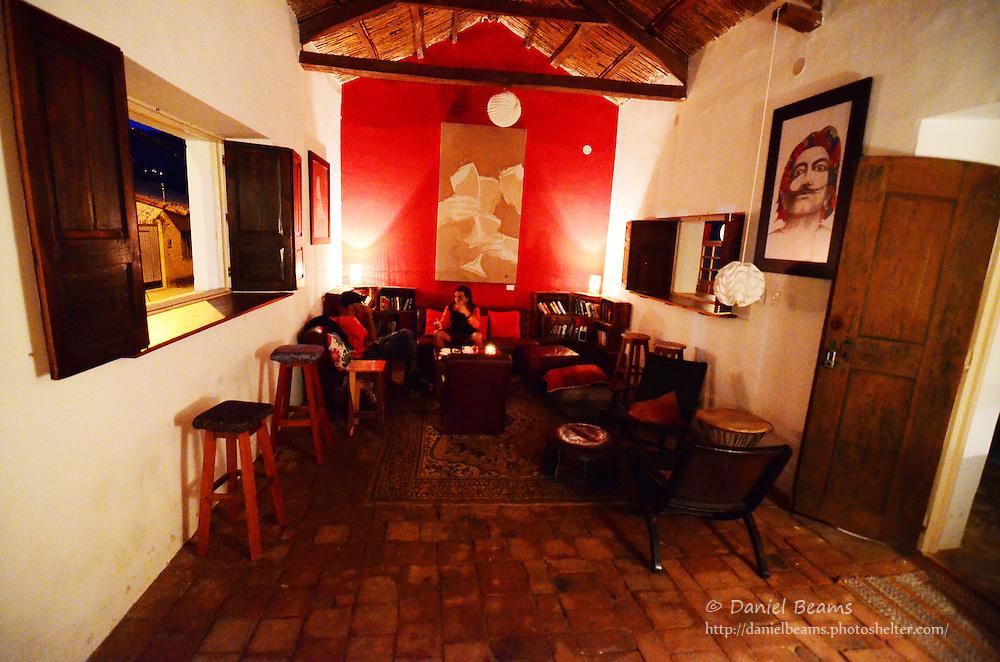 Interior of La Boeme in Samaipata, Bolivia