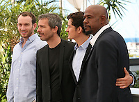 Conrad Kemp, Jérôme Salle, Orlando Bloom and Forest Whitaker, at the Zulu film photocall Cannes Film Festival Sunday 27th May 2013