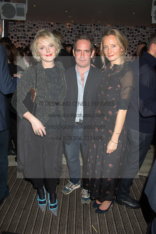 Left to right, MIRANDA RICHARDSON, TOM HOLLANDER and MARTHA WARD at a party to celebrate the 10th anniversary of Nobu Berkeley Street held on 5th November 2015.