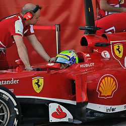 Felipe Massa of Scuderia Ferrari during the 3rd day of the F1 young driver/tyre test at the Silverstone Circuit, Northamptonshire on the 19th July 2013.<br /> WAYNE NEAL | SPORTPIX.ORG.UK