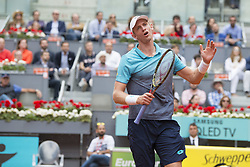 May 12, 2018 - Madrid, Madrid, Spain - KEVIN ANDERSON protests after missing a point in a match against DOMINIC THIEM during the semi finals of Mutua Madrid Open 2018 - ATP in Madrid. DOMINIC THIEM won the match 6-4 6-2. (Credit Image: © Patricia Rodrigues via ZUMA Wire)
