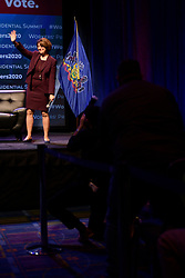 Democratic Presidential hopeful U.S. Sen Amy Klobuchar speaks at the Philadelphia Council AFL-CIO Workers' Presidential Summit, at the Pennsylvania Convention Center in Philadelphia, PA, on September 17, 2019.
