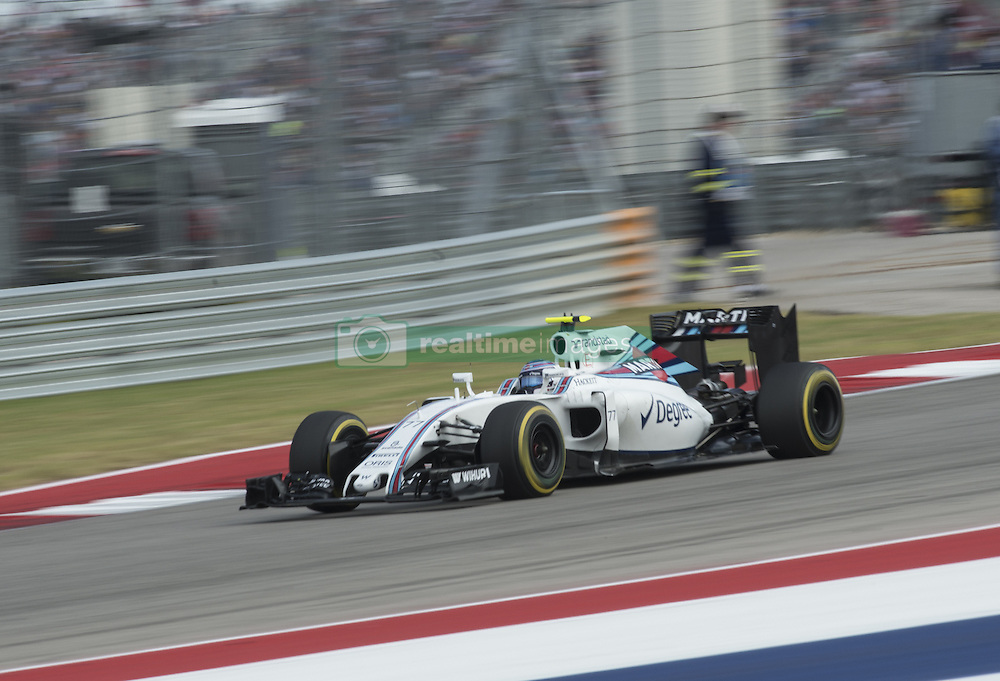 October 23, 2016 - Austin, Texas, U.S - 2016 FORMULA 1, Circuit of the America's, #77 VALTTERI BOTTAS of WILLIAMS MARTINI RACING team in turn 17. (Credit Image: © Hoss Mcbain via ZUMA Wire)